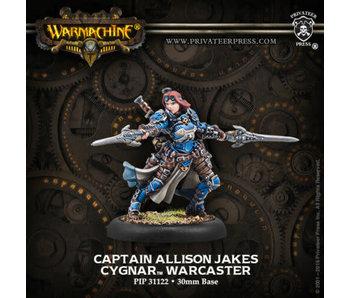 Cygnar Allison Jakes Warcaster