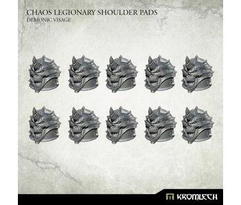 Chaos Legionary Shoulder Pads - Demon Visage