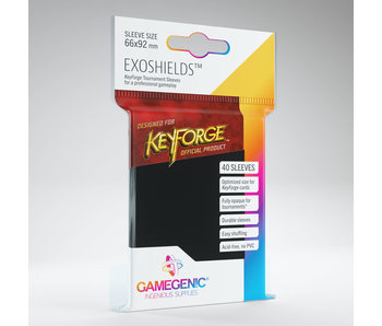 Keyforge Logo Exoshields Tournament Sleeves - Black