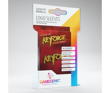 Keyforge Logo Sleeves - Red