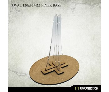 Oval 120x92mm Flyer Base with plexi stem (1)