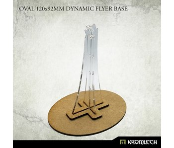 Oval 120x92mm Dynamic Flyer Base with plexi stem