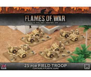 Flames of War 25 PDR Field Troop