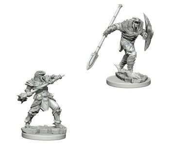D&D Unpainted Minis Wv5 Dragonborn Male Fighter V