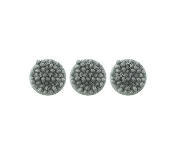Bitspudlo - 40mm Round Skull Pile Bases (3)