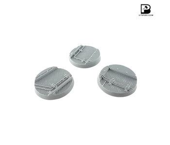 Bitspudlo - 40mm Round Industrial Bases (3)