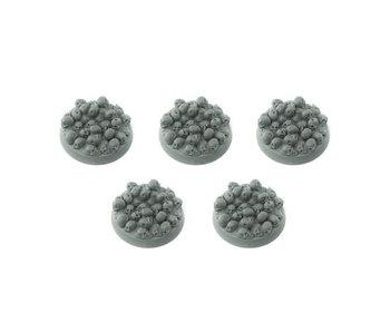 Bitspudlo - 32mm Round Skull Pile Bases (5)