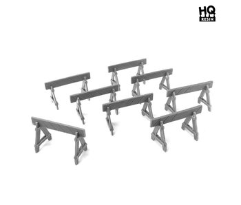 Police Barriers Set - HQ Resin