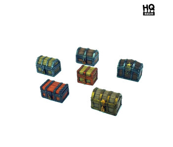 Wooden Chests Set  - HQ Resin