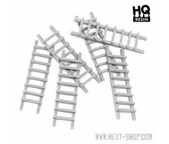 Wooden Ladder Set - HQ Resin
