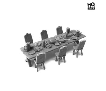 Table and Seats Set 2 - HQ Resin