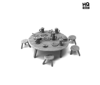 Table and Seats Set 3 - HQ Resin