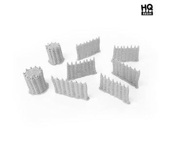 Wicker Fence Set - HQ Resin