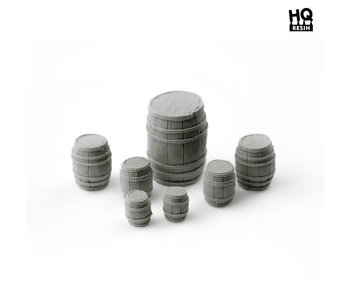 Wooden Barrels Set - HQ Resin