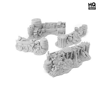 Medieval Barricades - HQ Resin