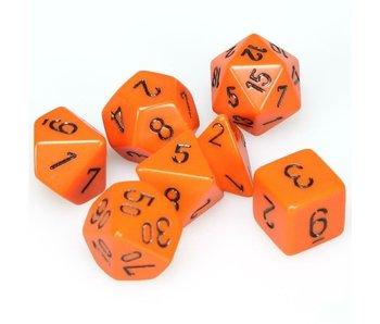 Chessex Opaque 7-Die Set Orange / Black