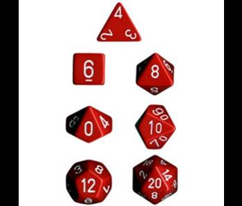 Chessex Opaque 7-Die Set Red / White