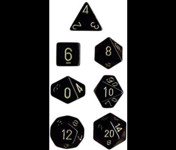 Chessex Opaque 7-Die Set Black / Gold