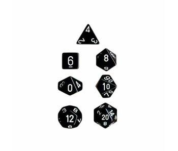 Chessex Opaque 7-Die Set Black / White