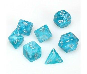 Chessex Cirrus 7-Die Set Aqua / Silver