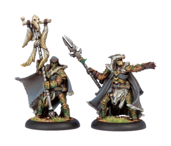 Circle Orboros - Wolves of Orboros Chieftain & Standard (PIP 72030)