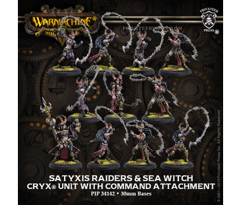 Cryx - Unit & Command Attachment - Satyxis Raiders & Sea Witch (Resin/Metal) (PIP 34142)