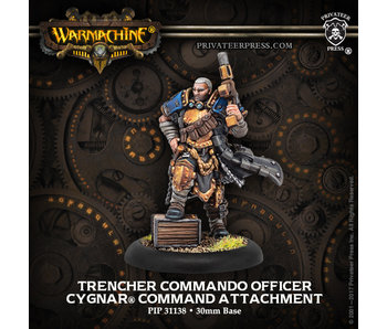 Cygnar - Trencher Commando Officer - Command Attachment (Resin/Metal) (PIP 31138)