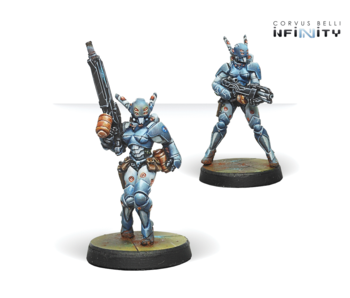 Infinity - PanOceania - Orc Troop Pack - HMG/Boarding Shotgun (2) RP/AF