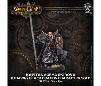 Khador - Kapitan Sofia Skirova Black Dragon Solo (Resin/Metal) (PIP 33126)