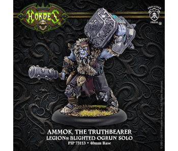 Legion of Everblight - Ammok the Truthbearer, Blighted Ogrun Character Solo (Resin/Metal) (PIP 73113)