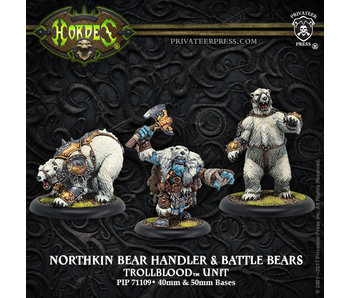 Trollbloods - Northkin Bear Handler & Battle Bears Unit (Resin/Metal) (PIP 71109)