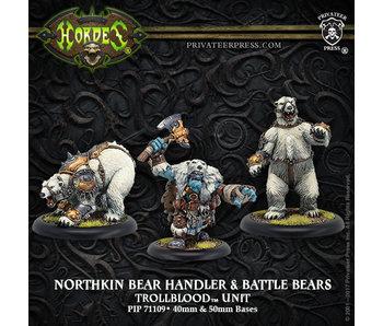 Trollbloods - Northkin Bear Handler & Battle Bears (PIP 71109)
