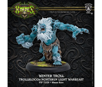 Trollbloods - Winter Troll Light Warbeast (Resculpt) (Resin/Metal) (PIP 71120)