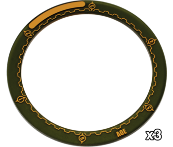 "Warmachine 4"" Area Of Effect Rings (PIP 91080)"