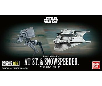 Bandai Star Wars Vehicle Model 008 AT-ST & Snowspeeder