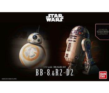 """Bandai BB-8 & R2-D2 """"Star Wars"""", Bandai Star Wars Character Line 1/12"""
