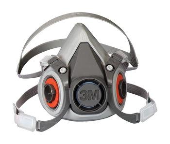 3M 6000 Series Half Facepiece Reusable Respirator Mask (Medium)