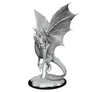 D&D Unpainted Minis Wv11 Young Silver Dragon