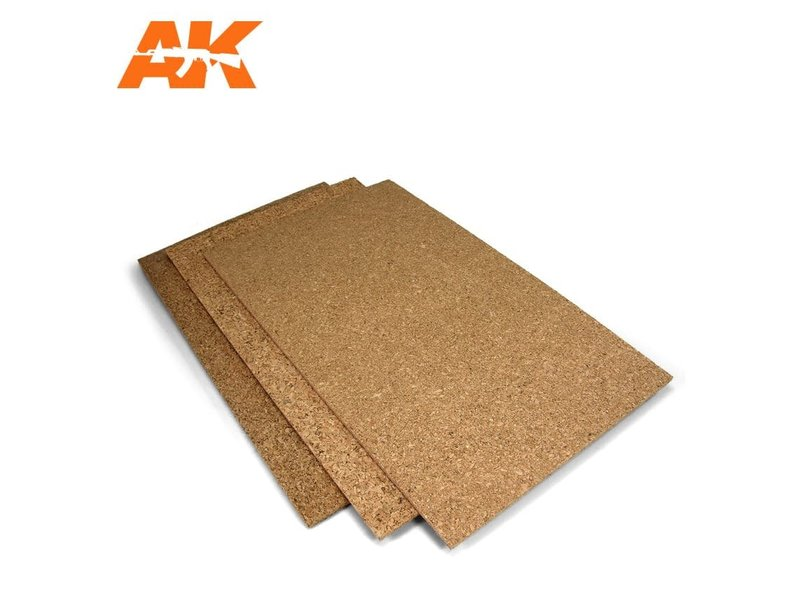 AK Interactive Ak Interactive Cork Sheet - Coarse Grained - 200 X 300 X 3Mm (2 Sheets)