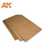 AK Interactive Ak Interactive Cork Sheets - Fine Grained - 200 X 300 X 1-2-3Mm (3 Sheets)