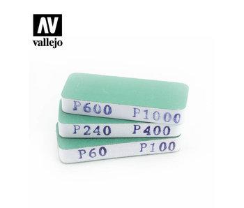 Vallejo 3 Flexi Sanders Dual-Grit 80x30x12mm (T04004)
