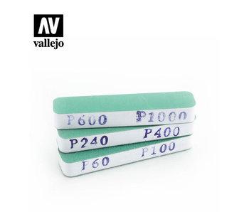 Vallejo 3 Dual-Grit Flexi Sanders 90x19x12mm (T04002)