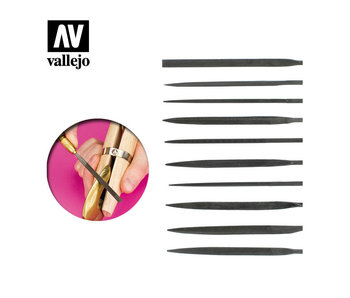 Vallejo Needle File Set (*10) (T03001)