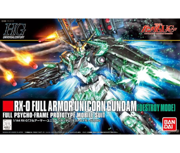 Bandai #178 Full Armor Unicorn Gundam (Destroy Mode) Gundam UC - Bandai HGUC 1/144