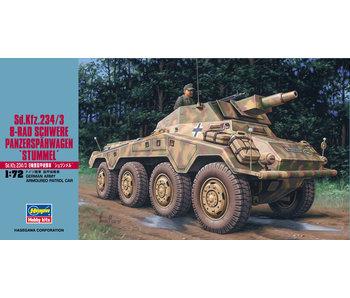 Hasegawa Sd.Kfz. 234/3 8-Rad Schwere Panzerspahwagen Stummel