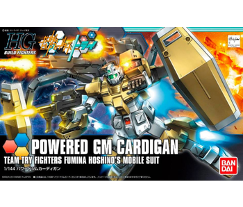 Bandai #19 Powered GM Cardigan Gundam Build Fighters Try - Bandai HGBF 1/144