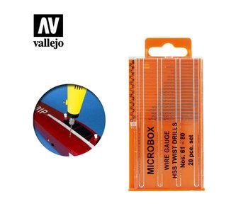 Vallejo Drill Bit Set (*20) (N. 61-80) (T01002)