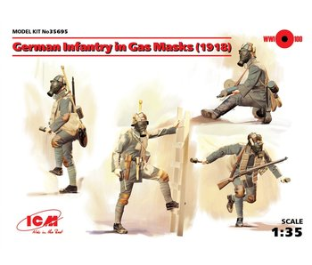 ICM German Infantry in Gas Masks (1918) (4 figures)