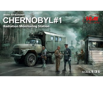 ICM Chernobyl #1 Radiation Monitoring Station truck, 5 figures & diorama base