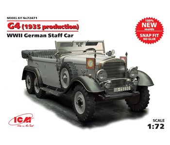 ICM G4 (1935 production), WWII German Staff Car,  snap fit/no glue